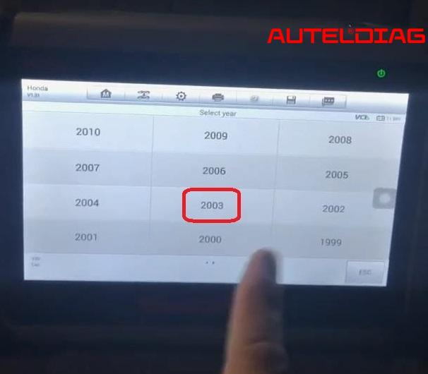 AutelMK808BT Programmed Key for 2003 Honda CRV