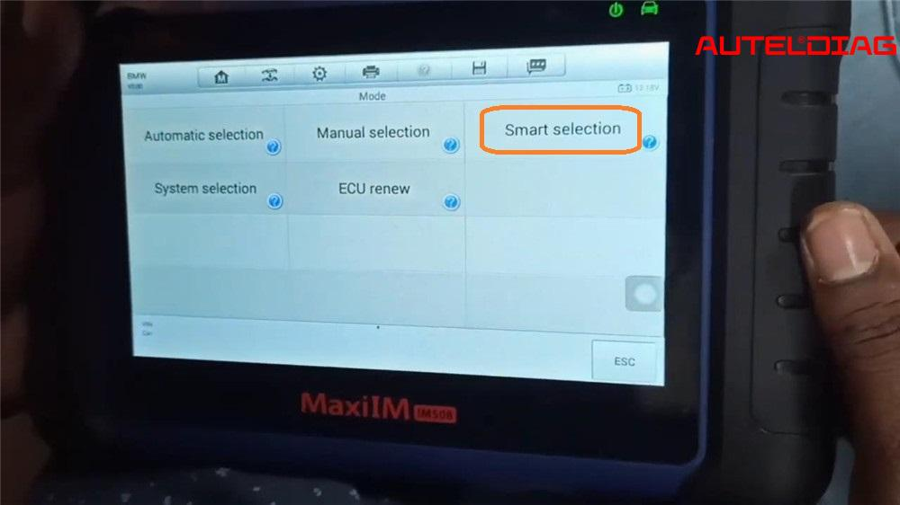 Autel IM508 Adds a New Key to BMW CAS4/CAS4+ via OBD