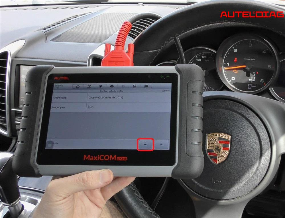 Autel MK808 Reset Porsche Cayenne Check Engine Light