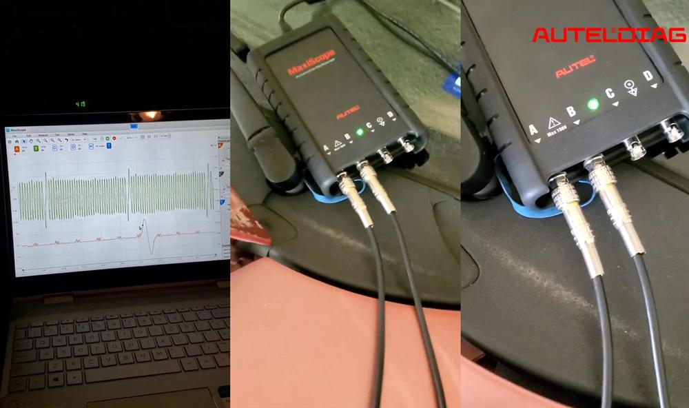 Autel MP408 Get Crank & Cam Sensor Waveforms Test