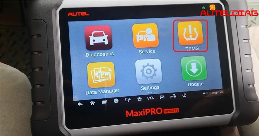 Autel MP808TS TPMS Relearn for 2007 Toyota Camry