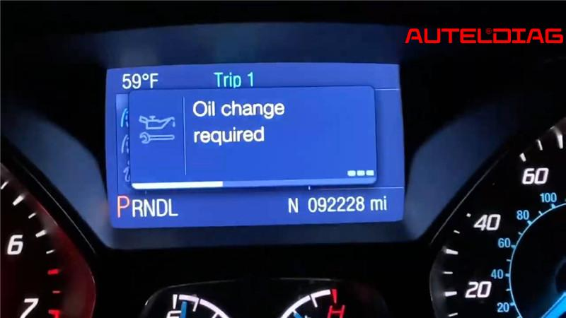 Ford Focus Oil Change Required Reset Via Autel Maxisys Elite (1)