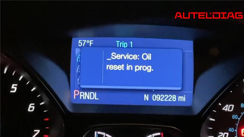Ford Focus Oil Change Required Reset Via Autel Maxisys Elite (11)