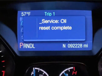 Ford Focus Oil Change Required Reset Via Autel Maxisys Elite (12)