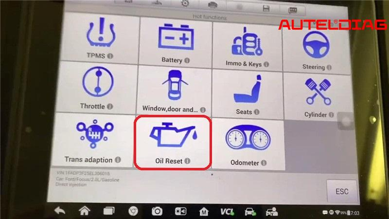 Ford Focus Oil Change Required Reset Via Autel Maxisys Elite (8)