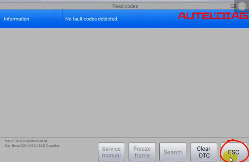 Mercedes C200 2011 Oil Reset Via Autel Maxisys Ms906 (10)