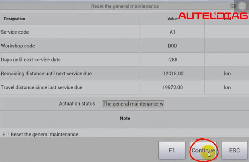 Mercedes C200 2011 Oil Reset Via Autel Maxisys Ms906 (14)