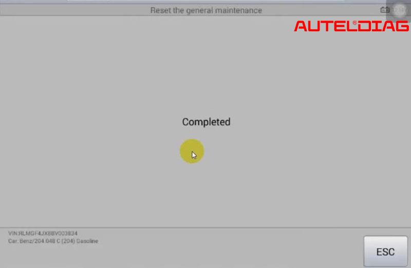 Mercedes C200 2011 Oil Reset Via Autel Maxisys Ms906 (15)