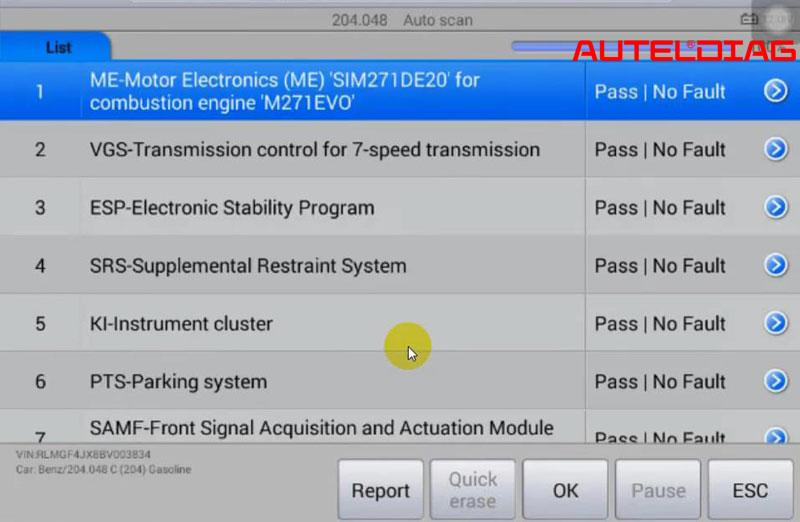 Mercedes C200 2011 Oil Reset Via Autel Maxisys Ms906 (16)