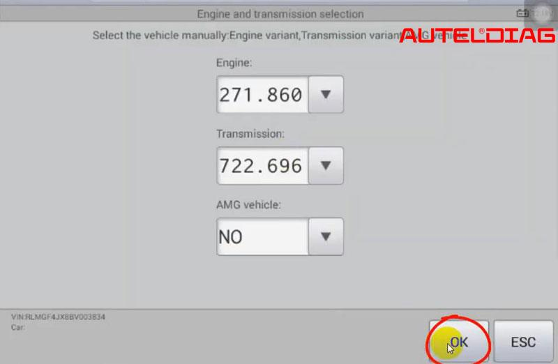 Mercedes C200 2011 Oil Reset Via Autel Maxisys Ms906 (4)