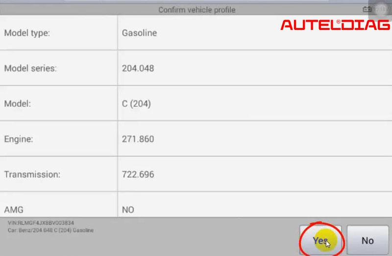 Mercedes C200 2011 Oil Reset Via Autel Maxisys Ms906 (5)