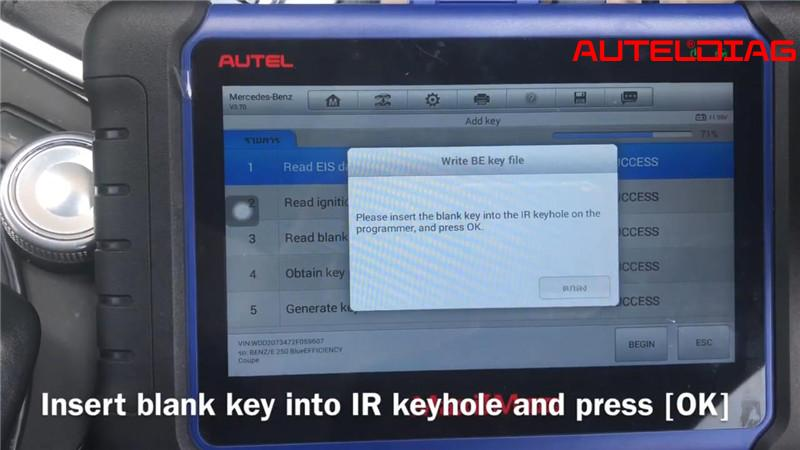 Mercedes E250 W207 Add Remote Key Via Autel Im508 Xp400 Pro (20)