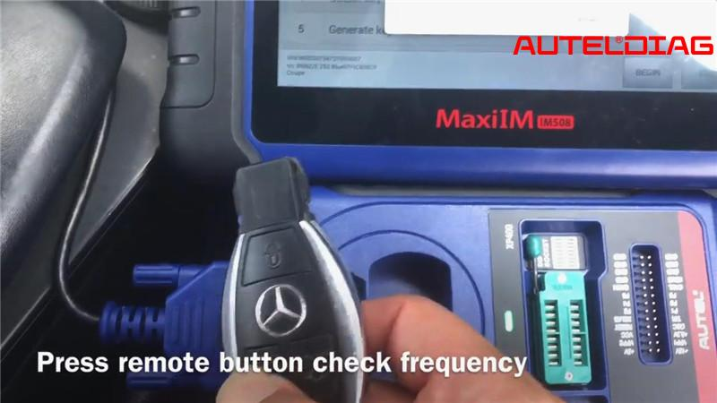 Mercedes E250 W207 Add Remote Key Via Autel Im508 Xp400 Pro (7)