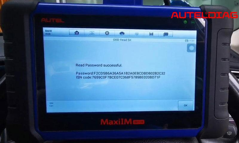 Program Bmw F10 Cas4 All Key Lost Via Autel Im508 By Obd (12)