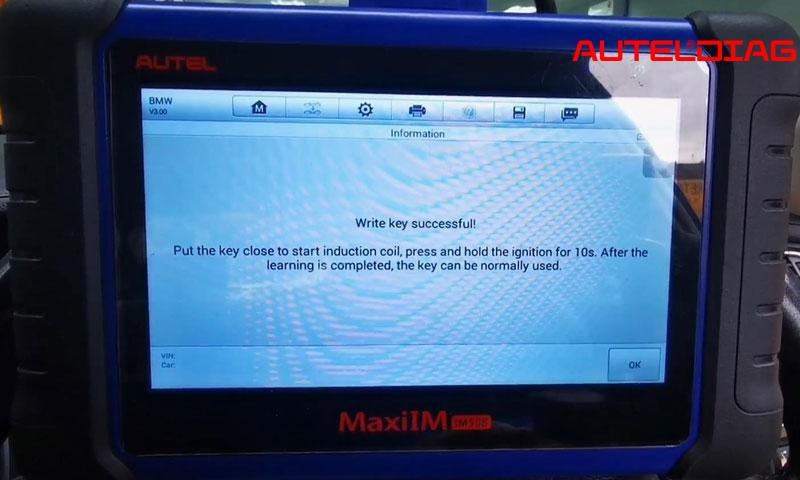Program Bmw F10 Cas4 All Key Lost Via Autel Im508 By Obd (16)