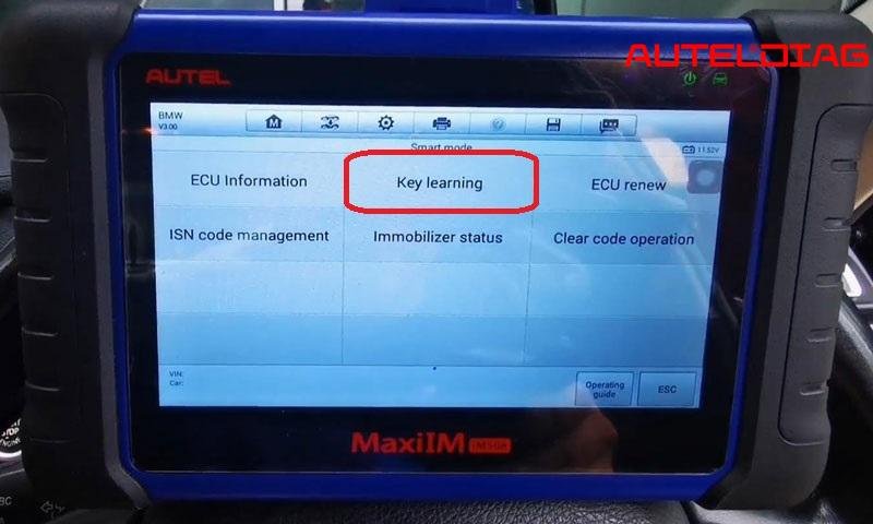 Program Bmw F10 Cas4 All Key Lost Via Autel Im508 By Obd (5)