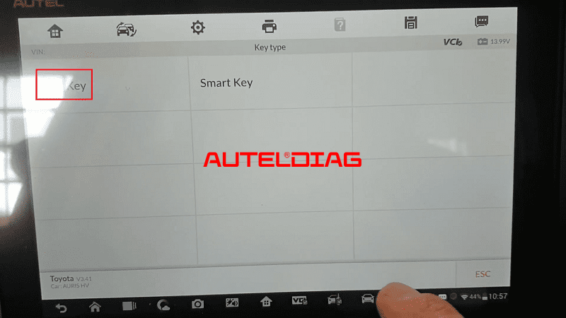 Autel Im608 Add Key For Toyota Auris 2007 08