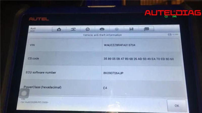 Audi Q5 2014 Add Smart Keys Via Autel Im508 Successfully (6)