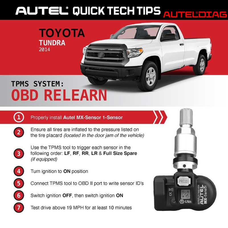 Autel Ts508 Do Obd Relearn For Ford F 150 Toyota Tundra 2
