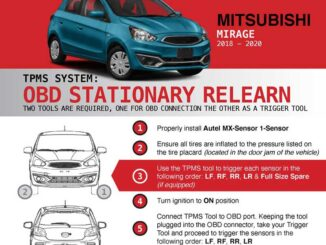Autel Ts508 Do Tpms Relearn For Mitsubishi Mirage 2018 2020 1
