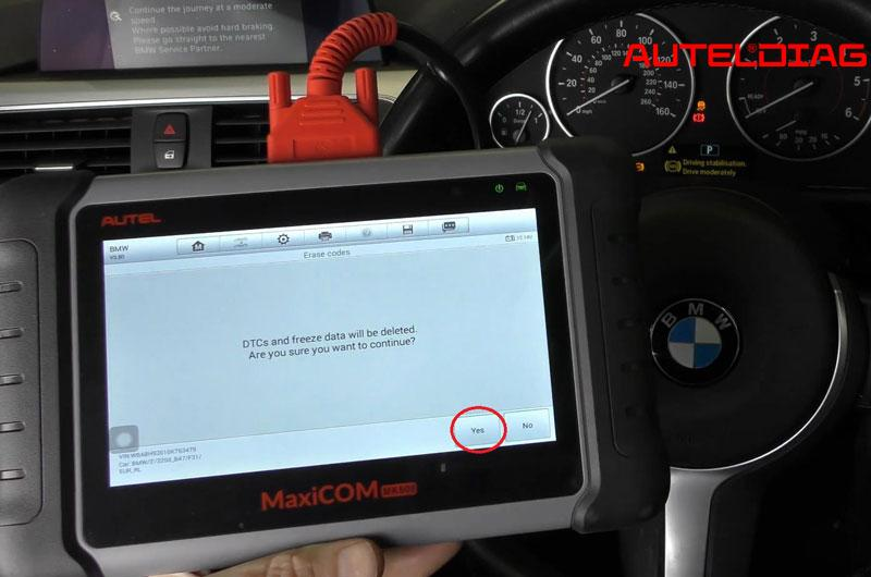 Bmw 3 Series F31 2016 Abs Dsc Warning Light Reset Via Autel Mk808 (11)