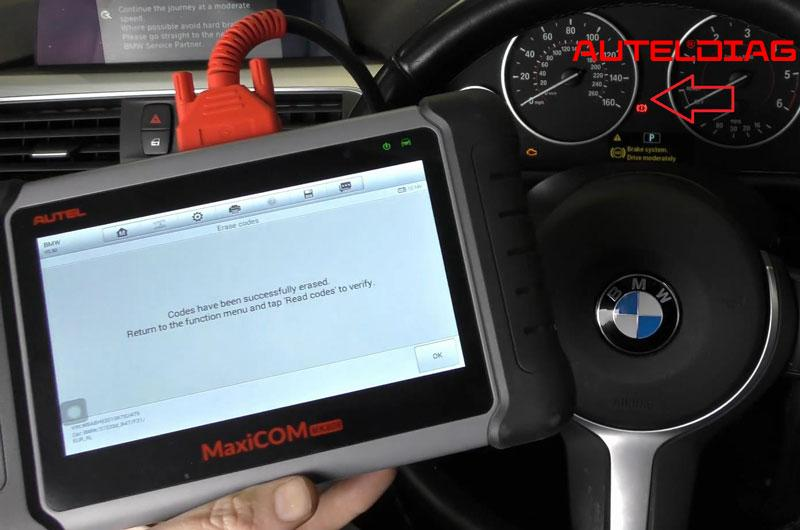 Bmw 3 Series F31 2016 Abs Dsc Warning Light Reset Via Autel Mk808 (12)