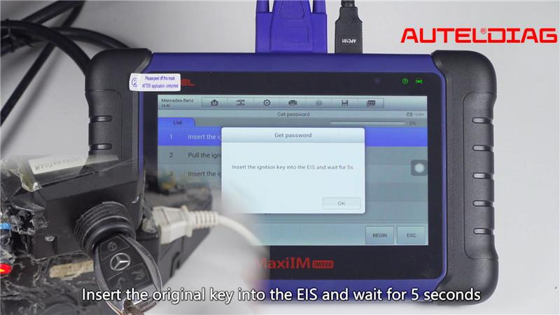 Mercedes W207 2008 2014 Add A Key By Autel Im508 Xp400 Pro (10)