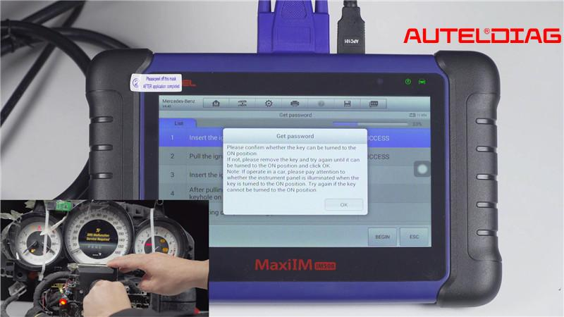 Mercedes W207 2008 2014 Add A Key By Autel Im508 Xp400 Pro (12)