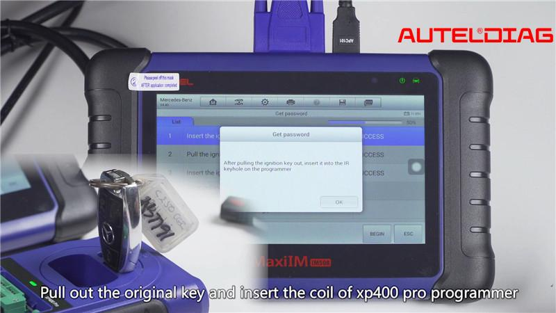 Mercedes W207 2008 2014 Add A Key By Autel Im508 Xp400 Pro (13)