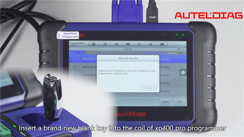 Mercedes W207 2008 2014 Add A Key By Autel Im508 Xp400 Pro (15)