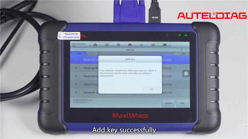 Mercedes W207 2008 2014 Add A Key By Autel Im508 Xp400 Pro (16)