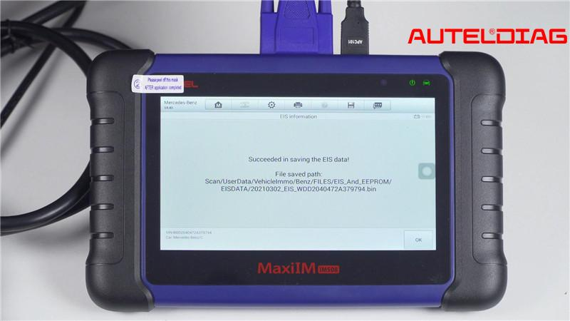 Mercedes W207 2008 2014 Add A Key By Autel Im508 Xp400 Pro (4)