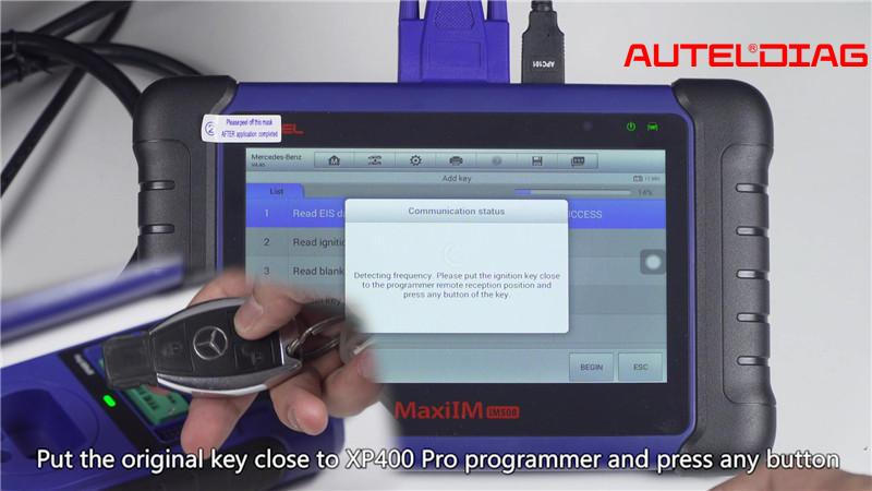 Mercedes W207 2008 2014 Add A Key By Autel Im508 Xp400 Pro (6)