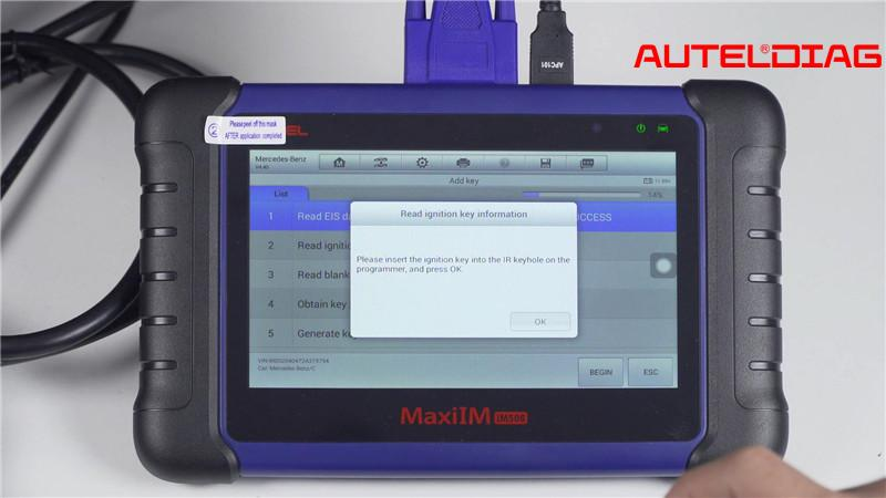 Mercedes W207 2008 2014 Add A Key By Autel Im508 Xp400 Pro (7)