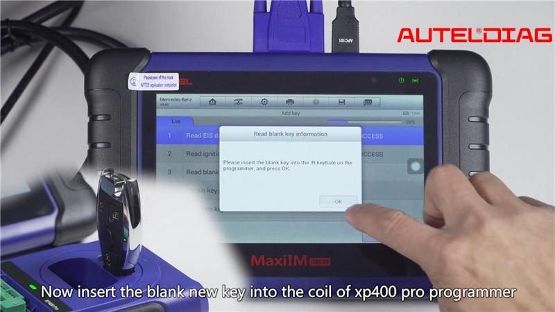 Mercedes W207 2008 2014 Add A Key By Autel Im508 Xp400 Pro (9)