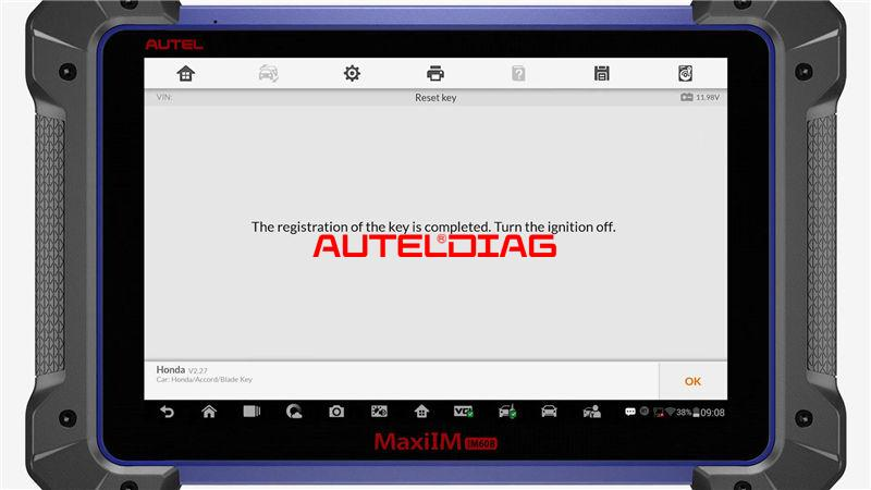Use Autel Im608 To Reset A Key For Honda Accord 2010 (11)