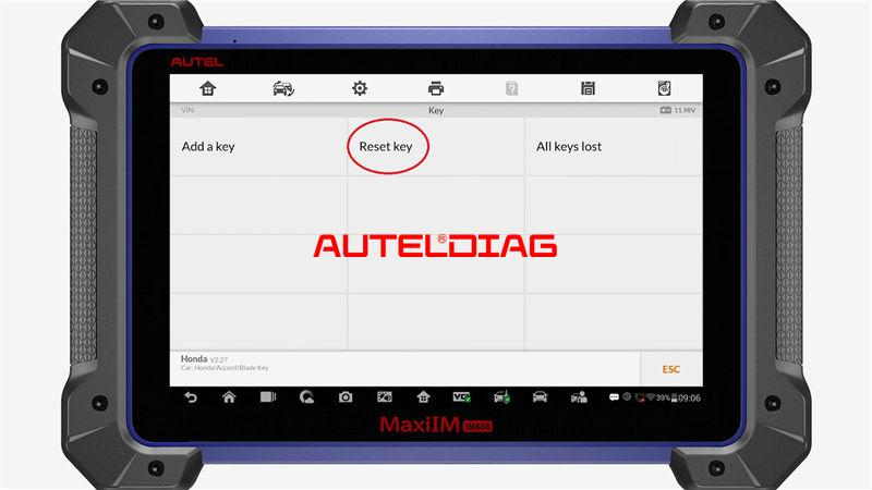 Use Autel Im608 To Reset A Key For Honda Accord 2010 (4)