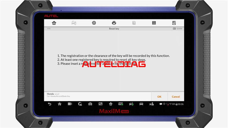 Use Autel Im608 To Reset A Key For Honda Accord 2010 (5)