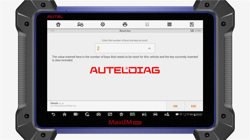 Use Autel Im608 To Reset A Key For Honda Accord 2010 (6)