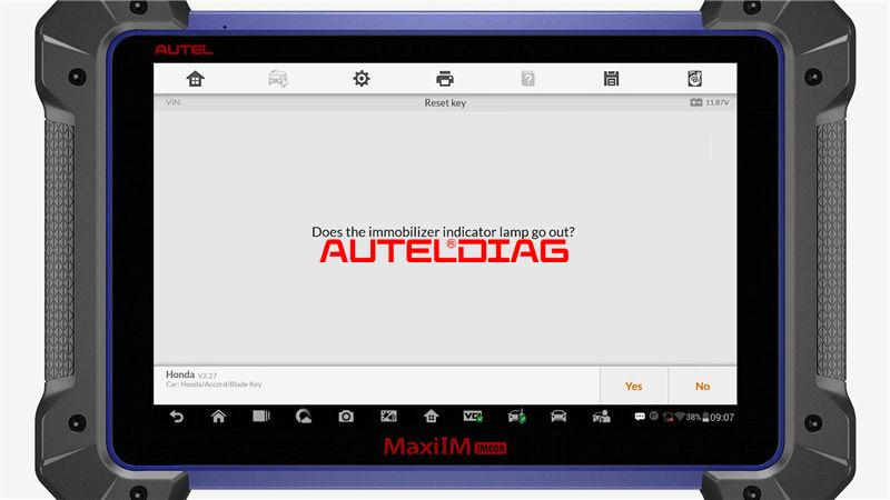 Use Autel Im608 To Reset A Key For Honda Accord 2010 (9)