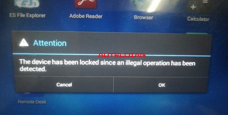 """Autel MP808TS """"Has Been Locked Since Illegal Operation""""solution"""