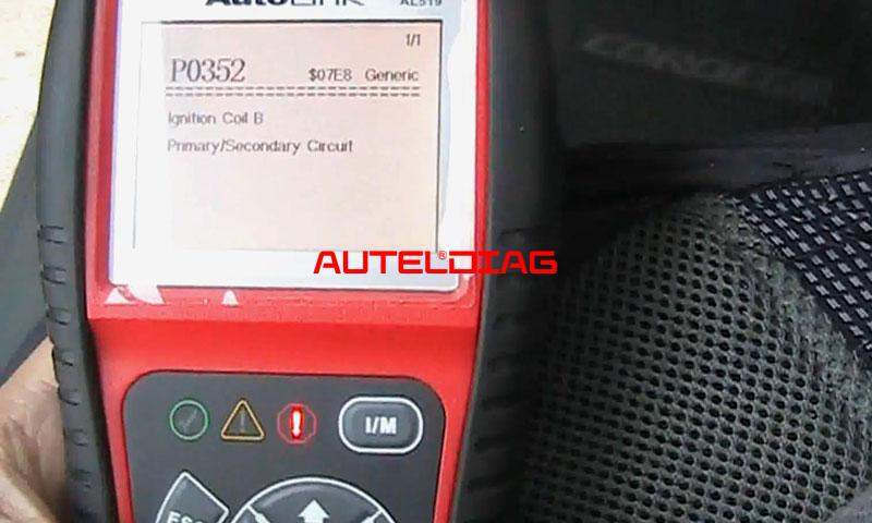 Autel Al519 Solved 2009 Toyota Corolla P0352 Ignition Coil Error (4)