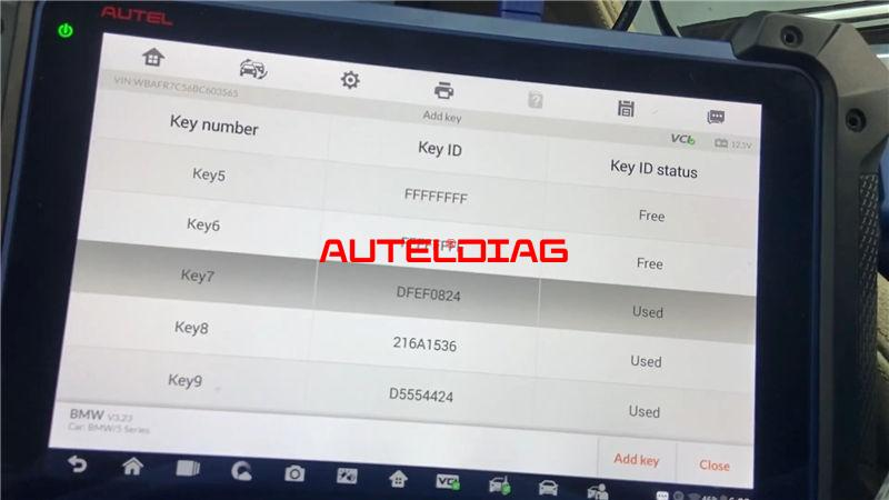 Autel Im608 Pro Program Bmw 2011 535i Cas4 A Key By Obd (15)
