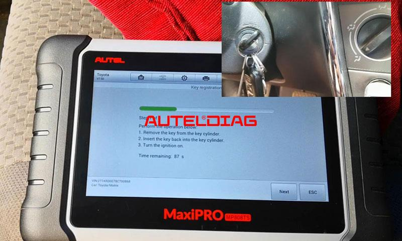 Autel Mp808ts Adds A Blade Key For Toyota Corolla Matrix 2008 (9)