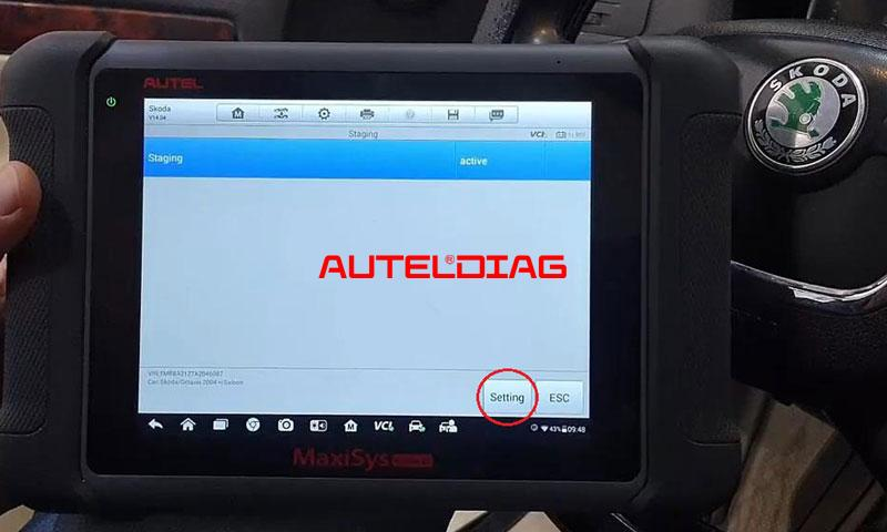 Autel Ms906bt Active Needle Sweep For Skoda Octavia 2010 (8)