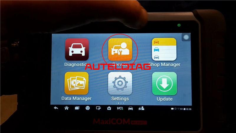 Bmw F31 2014 Brake Reset Via Autel Maxicom Mk808bt (1)
