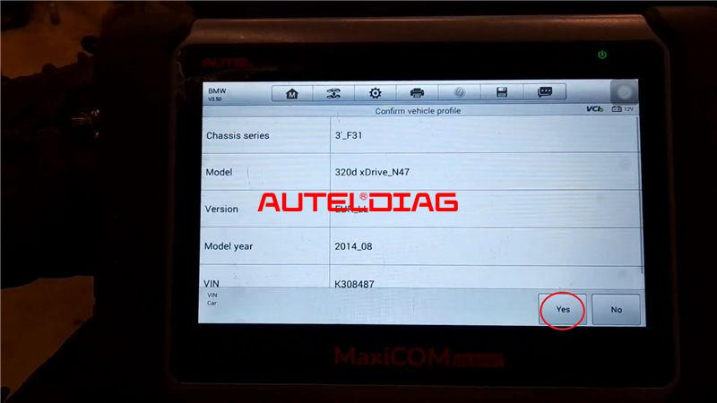 Bmw F31 2014 Brake Reset Via Autel Maxicom Mk808bt (4)