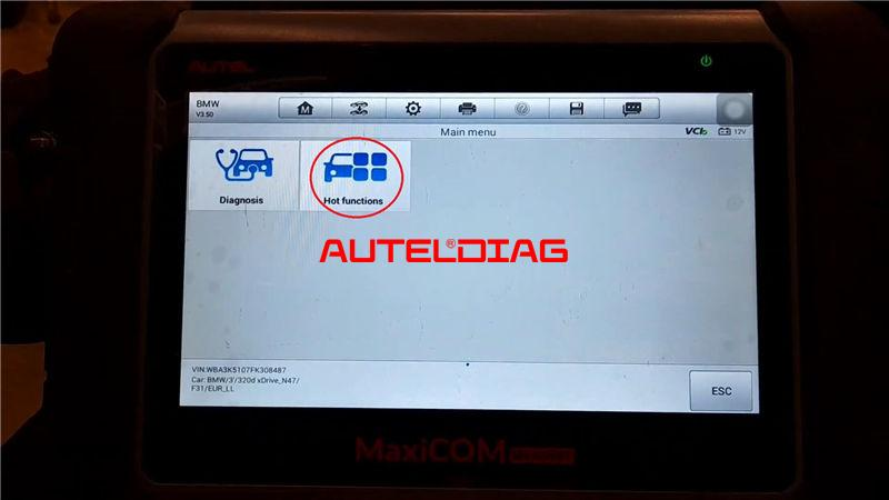 Bmw F31 2014 Brake Reset Via Autel Maxicom Mk808bt (5)