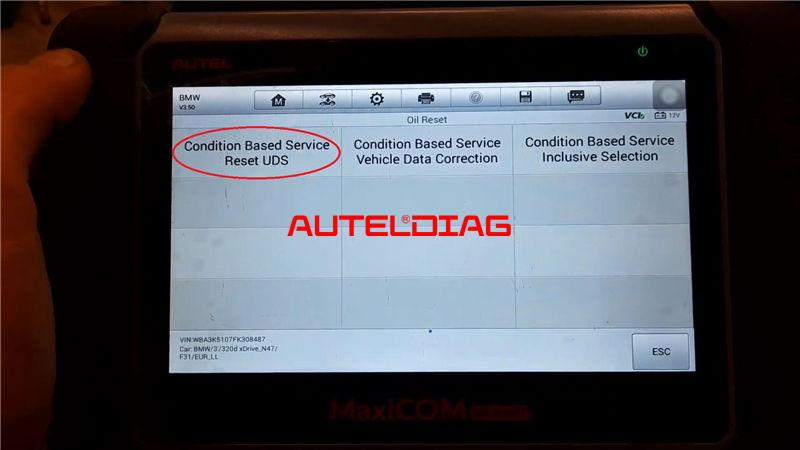 Bmw F31 2014 Brake Reset Via Autel Maxicom Mk808bt (6)