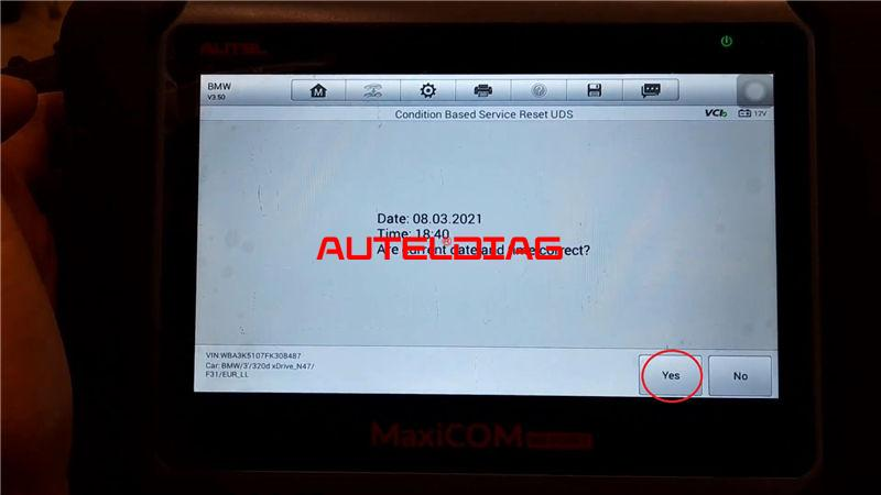 Bmw F31 2014 Brake Reset Via Autel Maxicom Mk808bt (7)